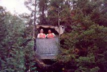 """2001-  Le petit mirador à la baie du Quille d'où Jean a tiré son buck de 42"""""""
